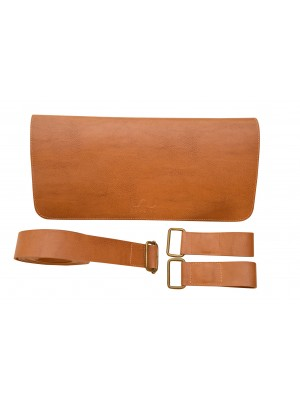 Messenger Flap Handle - Camel Brown